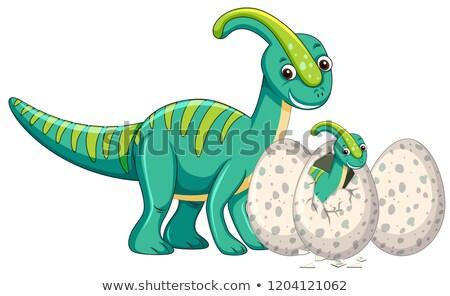 baby · dinosaurus · embryo · cartoon · illustratie · ei - stockfoto © colematt