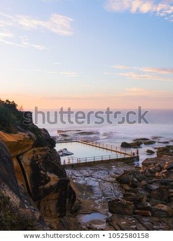 North Curl Curl beach and rock pool  scenic views Stock photo © lovleah