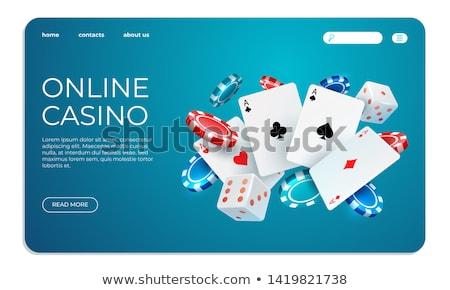 Online poker landing page template. Foto stock © RAStudio