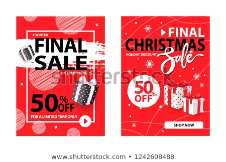 Merry Christmas Sale 50 Percent Half Price Off Stock photo © robuart