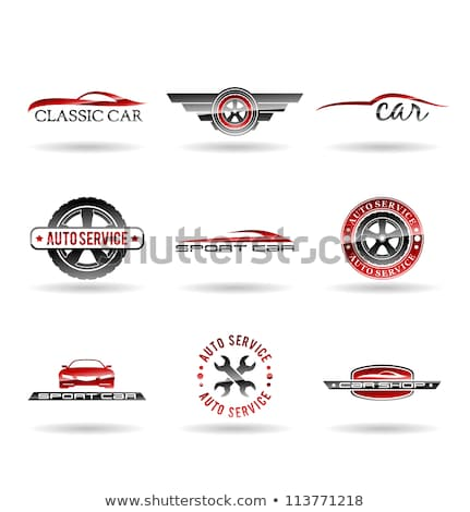 Vector Red Automobile with Car Spares Stock photo © dashadima