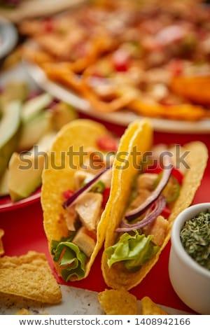 Croustillant tacos mexican Photo stock © dash