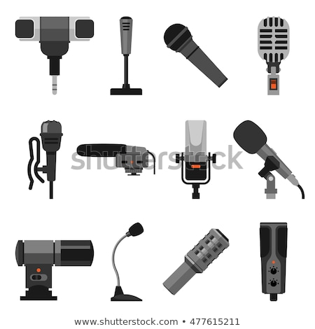 Different microphones types icons set Stock photo © netkov1