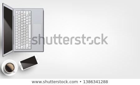 Contemporary Devices On Workplace Flat Lay Vector Stock photo © pikepicture