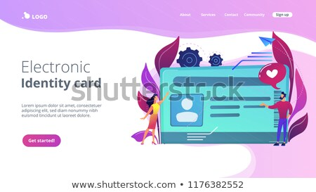Smart ID card landing page template. Stock photo © RAStudio