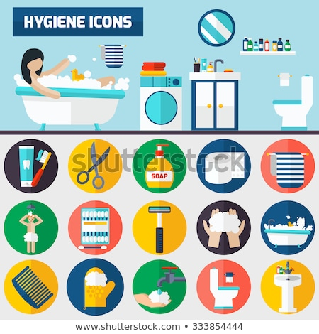 set of horizontal banners about personal hygiene stock photo © netkov1