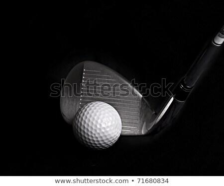 Czarny golf klub klin żelaza piłeczki do golfa Zdjęcia stock © feverpitch