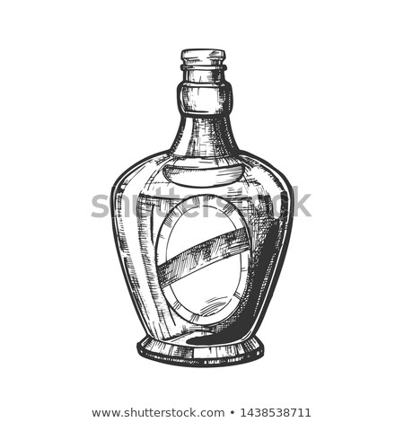 Drawn Scotch Bottle With Style Cork Cap Vector stock photo © pikepicture