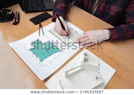 Engineers Designers Thinking on New Plan Scheme Stock photo © robuart