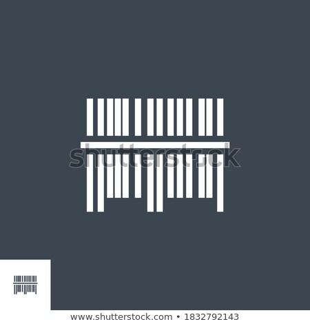 バーコード ベクトル アイコン 孤立した 白 デザイン ストックフォト © smoki