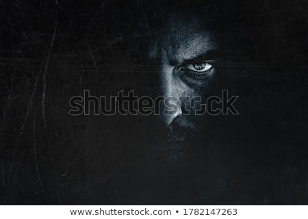 Portrait of a psycho person Stock photo © Lopolo