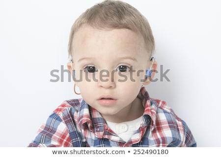 Menino sida cinza crianças feliz criança Foto stock © Lopolo