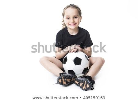 kobiet · piłkarz · portret · szczęśliwy · piłka · nożna · piłka · nożna - zdjęcia stock © lopolo