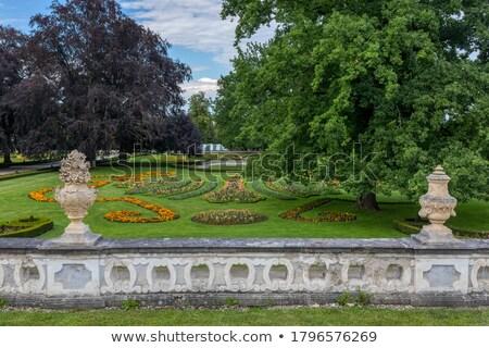 Fontana castello giardino Repubblica Ceca fiore città Foto d'archivio © borisb17