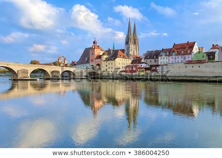 大聖堂 · 古い · 船 · 水 · 家 · クロック - ストックフォト © borisb17