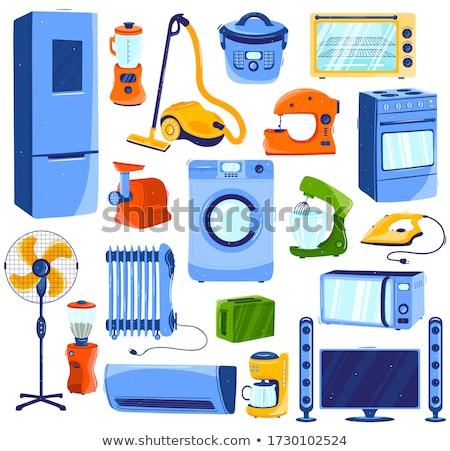 Cleaner Icon Cartoon Set Stock photo © patrimonio
