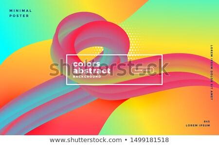 Vibrante 3D fluido laço bandeira colorido Foto stock © SArts