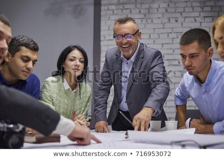 Teamwerk procede business team managers collega's bespreken Stockfoto © Freedomz