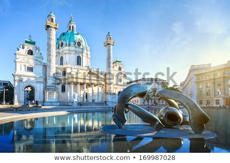 Viena · Áustria · manhã · nascer · do · sol · piscina · urbano - foto stock © borisb17