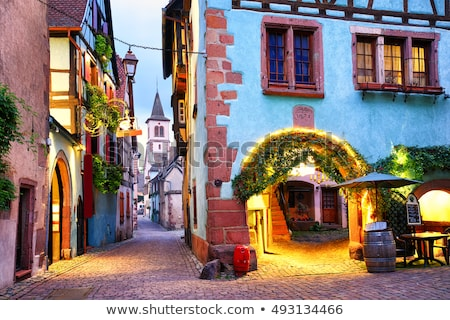 Stock photo: Street In Riquewihr Alsace France