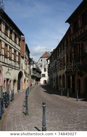 Rua principal França histórico casas flor casa Foto stock © borisb17