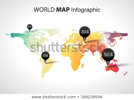 GPS arrow world map concept for travel navigation Stock photo © cienpies