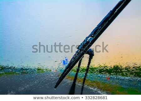 Cars on a highway at a rainy dusk  Stock photo © lightpoet