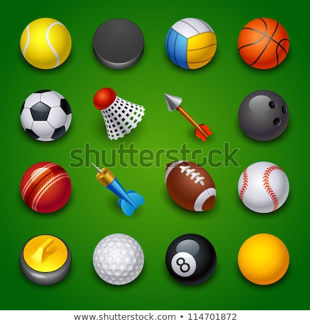 cricket game collection elements icons set vector stock photo © pikepicture