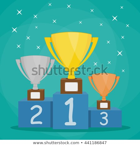 Winner podium flat color illustration Stock photo © barsrsind