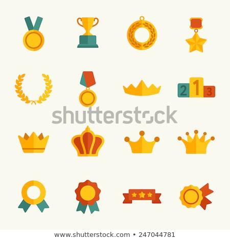 Crown flat color illustration Stock photo © barsrsind