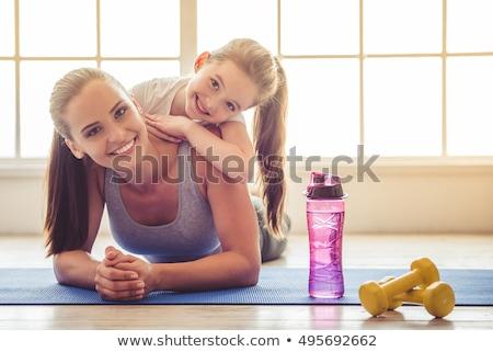 Abbigliamento sportivo donne yoga persona Foto d'archivio © HighwayStarz