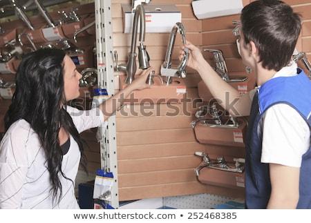 Cliente retrato casa dispositivo compras supermercado Foto stock © Lopolo