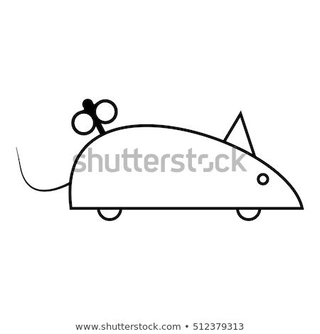 Egér ikon vektor skicc illusztráció felirat Stock fotó © pikepicture
