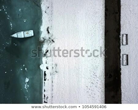 Zamrożone wygaśnięcia krajobraz śniegu lodu zimą Zdjęcia stock © benkrut