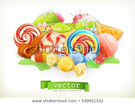 Tatlı gıda nesneler grup karikatür örnek Stok fotoğraf © izakowski