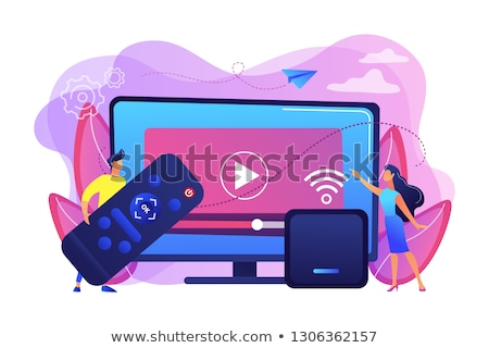 Smart tv technologie vector metaforen home cinema Stockfoto © RAStudio