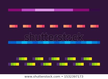 Neon Lines Set, Space Pixel Game, Shoot Vector Stock photo © robuart