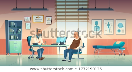 cartoon doctor physician in the office stock photo © voysla