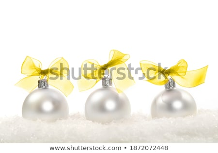 Christmas composition with three balls over white Stock photo © Melnyk