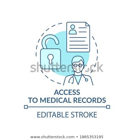 Worker healthcare system vector concept metaphors Stock photo © RAStudio