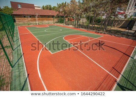 Basketball ground in a public park. Sports basketball court from different angles without people Stock photo © ElenaBatkova
