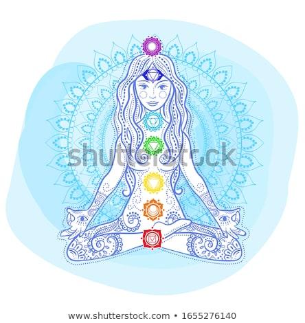 女性 ヨガ 曼陀羅 フォーム 座って ストックフォト © Olena