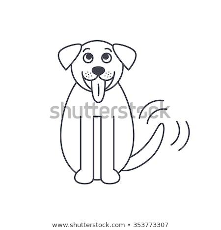 漫画 犬 尾 実例 幸せ 動物 ストックフォト © bennerdesign