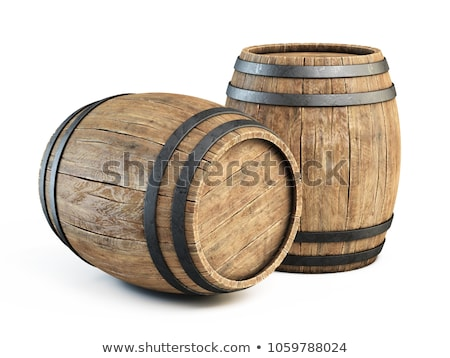 Wine in wooden barrels stored for aging in the cellar Stock photo © boggy