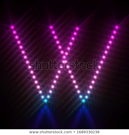 Pink blue dot light font Letter I 3D Stock photo © djmilic