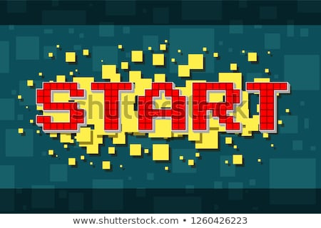Start Game and End of Playing Pixel Video Vector Stock photo © robuart