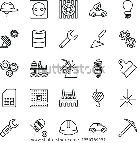 Coal Mining Equipment Onboarding Elements Icons Set Vector Stock photo © pikepicture