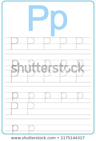 writting letter P worksheet for children Stock photo © izakowski