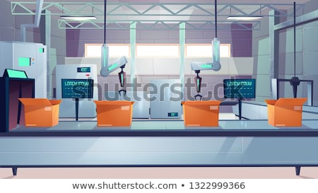 Robot and Loading Machine at Delivery Service Stock photo © robuart