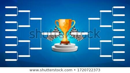 Toernooi sjabloon 16 teams gouden beker Stockfoto © evgeny89